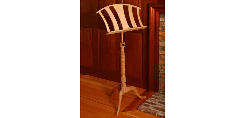 Memphis musician on his tiger maple and ebony music stand