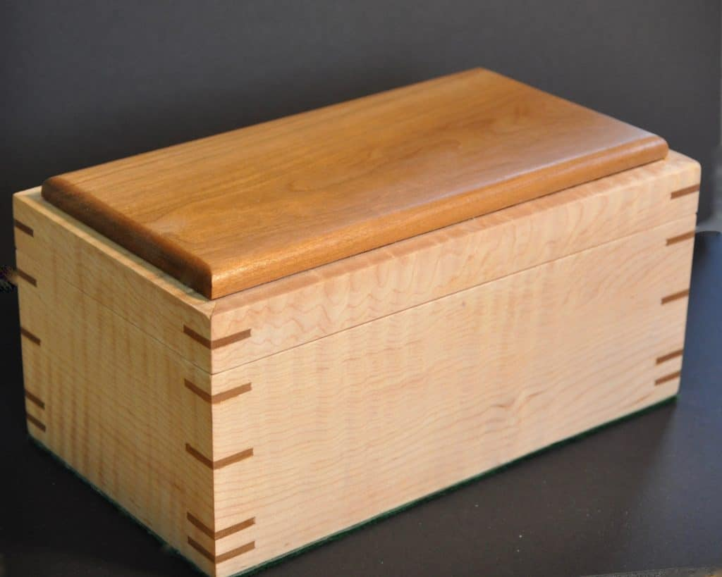 splined box in maple and cherry