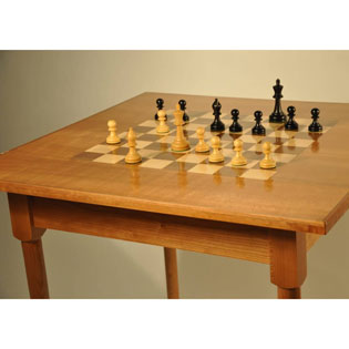 Custom Made Wood Chess Table