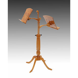 Hand Crafted Wood Double Music Stand