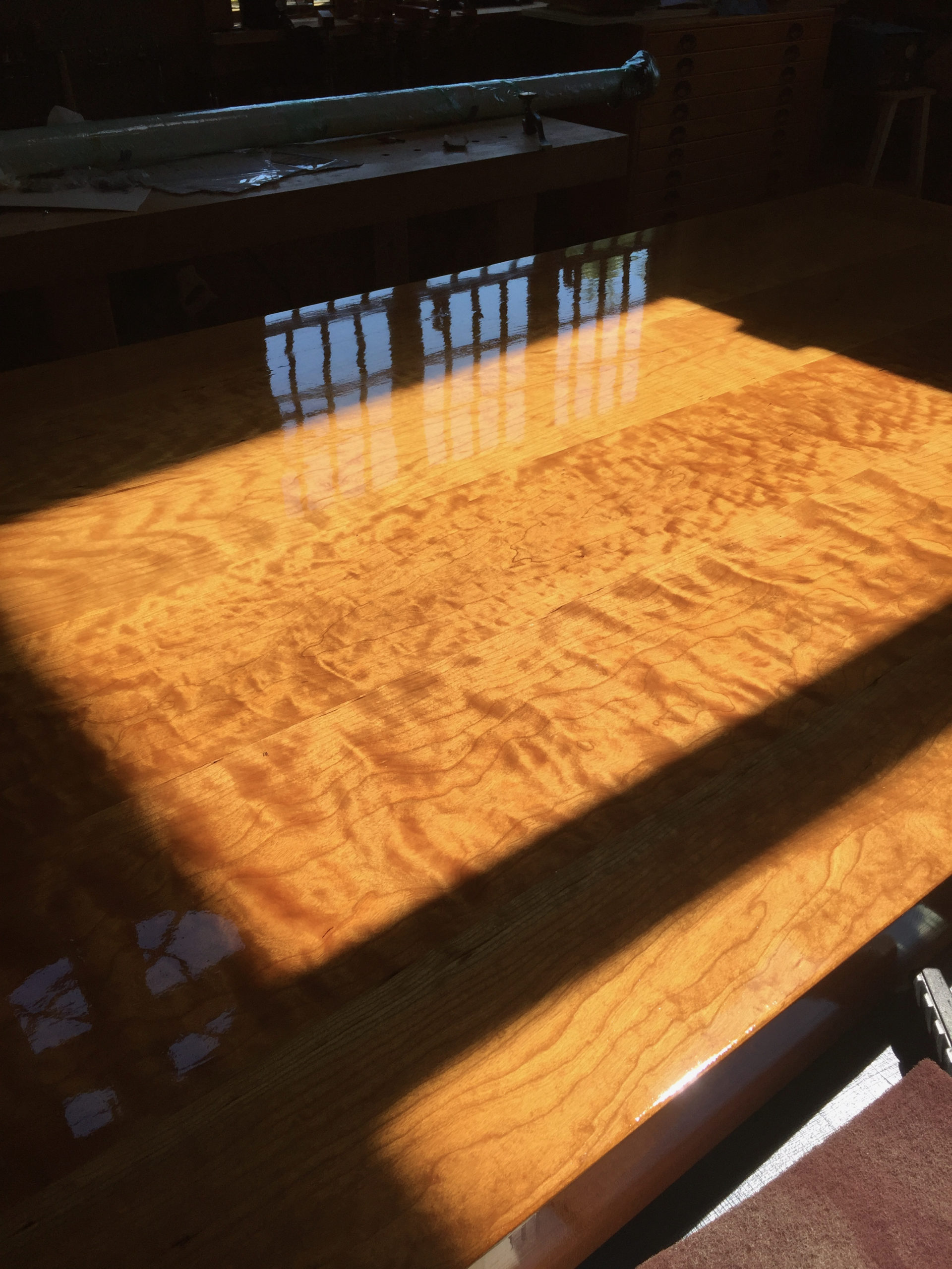 Figured Cherry Tabletop
