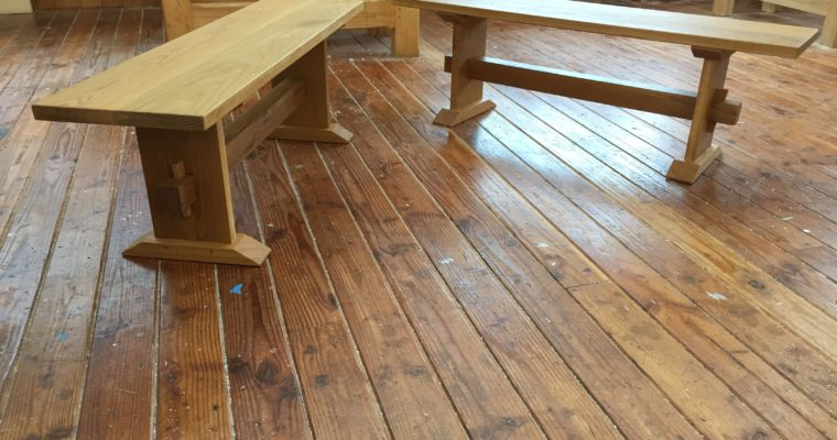 White Oak Dining Benches