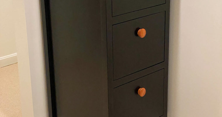 Cabinet made to match a desk